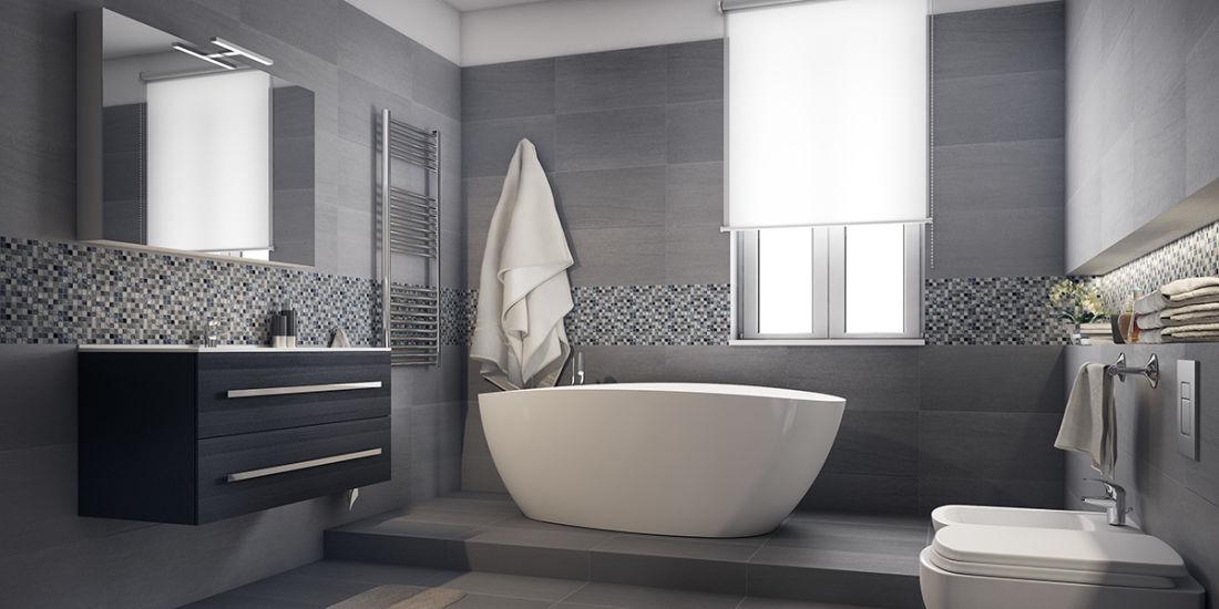 Amazing bagno con vasca fr06 pineglen - Arredare il bagno moderno ...