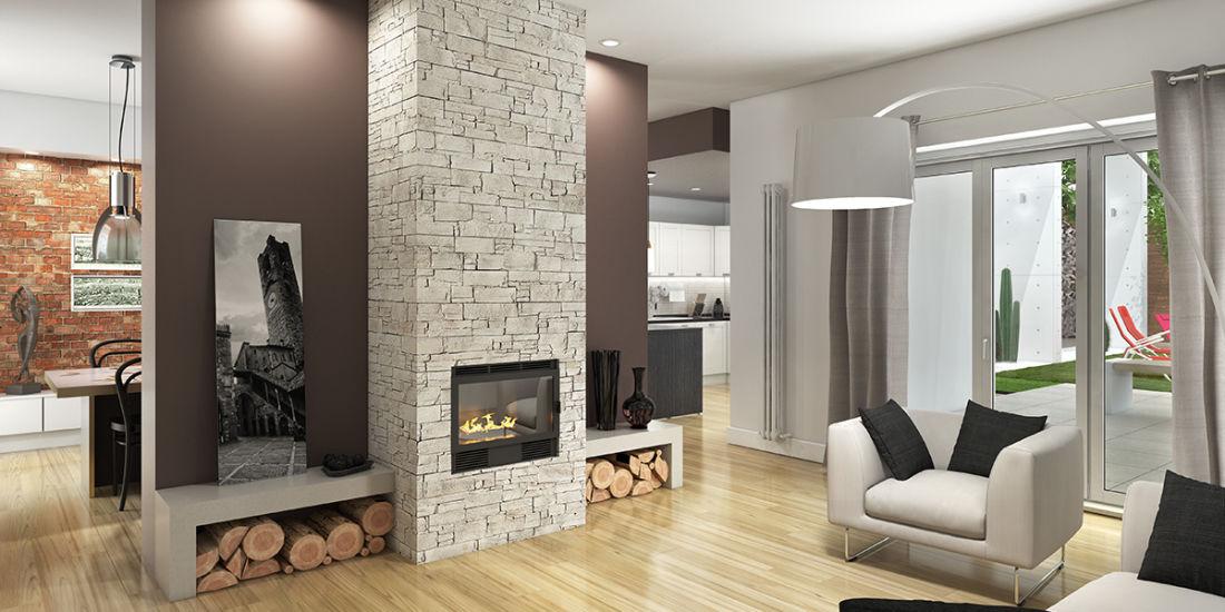 Amato Idee di arredamento per un soggiorno con camino fai da te | Leroy  QF88