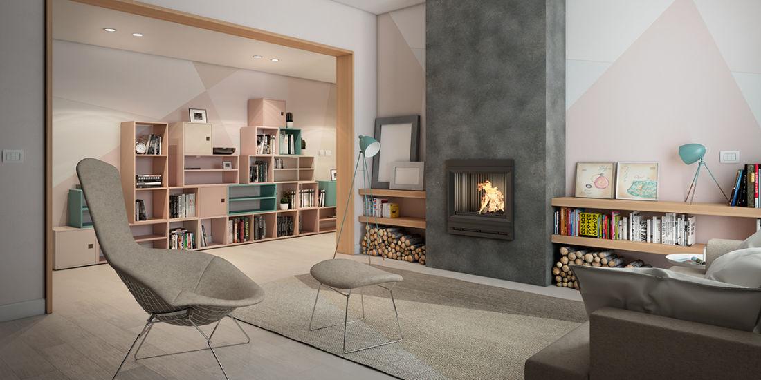 Arredare soggiorno con camino gx52 pineglen for Arredare un salotto moderno