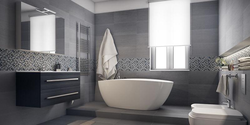 Come arredare un bagno moderno grande con vasca e doccia for Servizi da bagno moderni