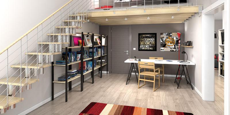 Favorito Idee soppalco in legno per sfruttare l'altezza del soffitto fai da  MY97