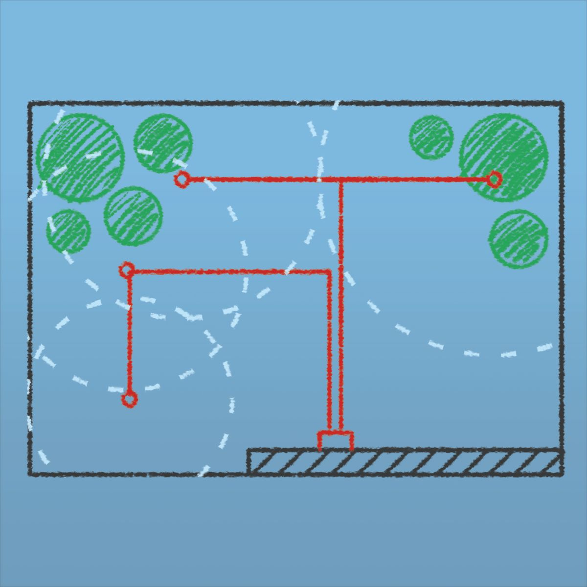Come installare un impianto di irrigazione interrato for Impianto irrigazione terrazzo leroy merlin