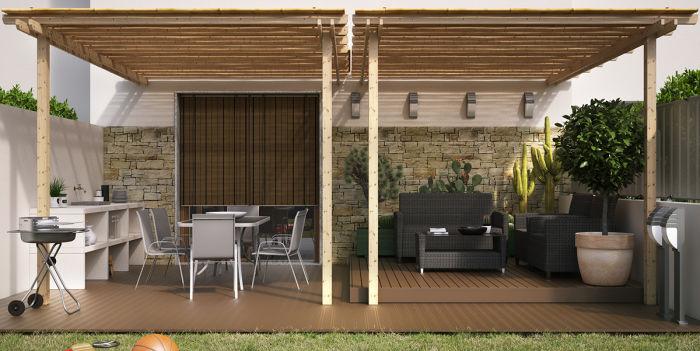 Un giardino fresco per ampliare gli ambienti di casa fai da te