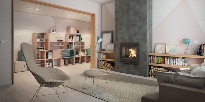 come arredare un salotto moderno con camino fai da te | leroy merlin - Immagini Soggiorno Moderno Con Camino 2