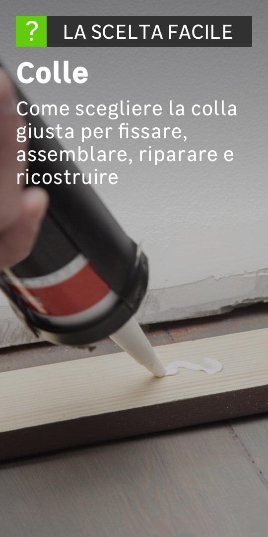 La colla viene utilizzata per fissare una lastra di legno