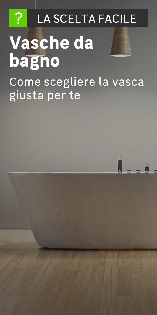 Un bagno dallo stile minimale e una vasca in ceramica al centro