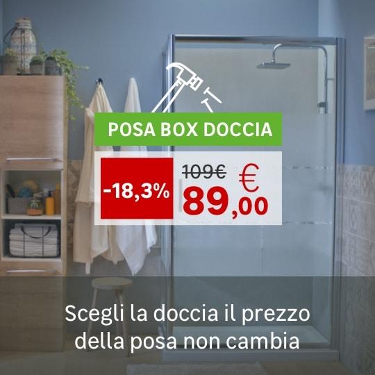Posa prezzo box doccia