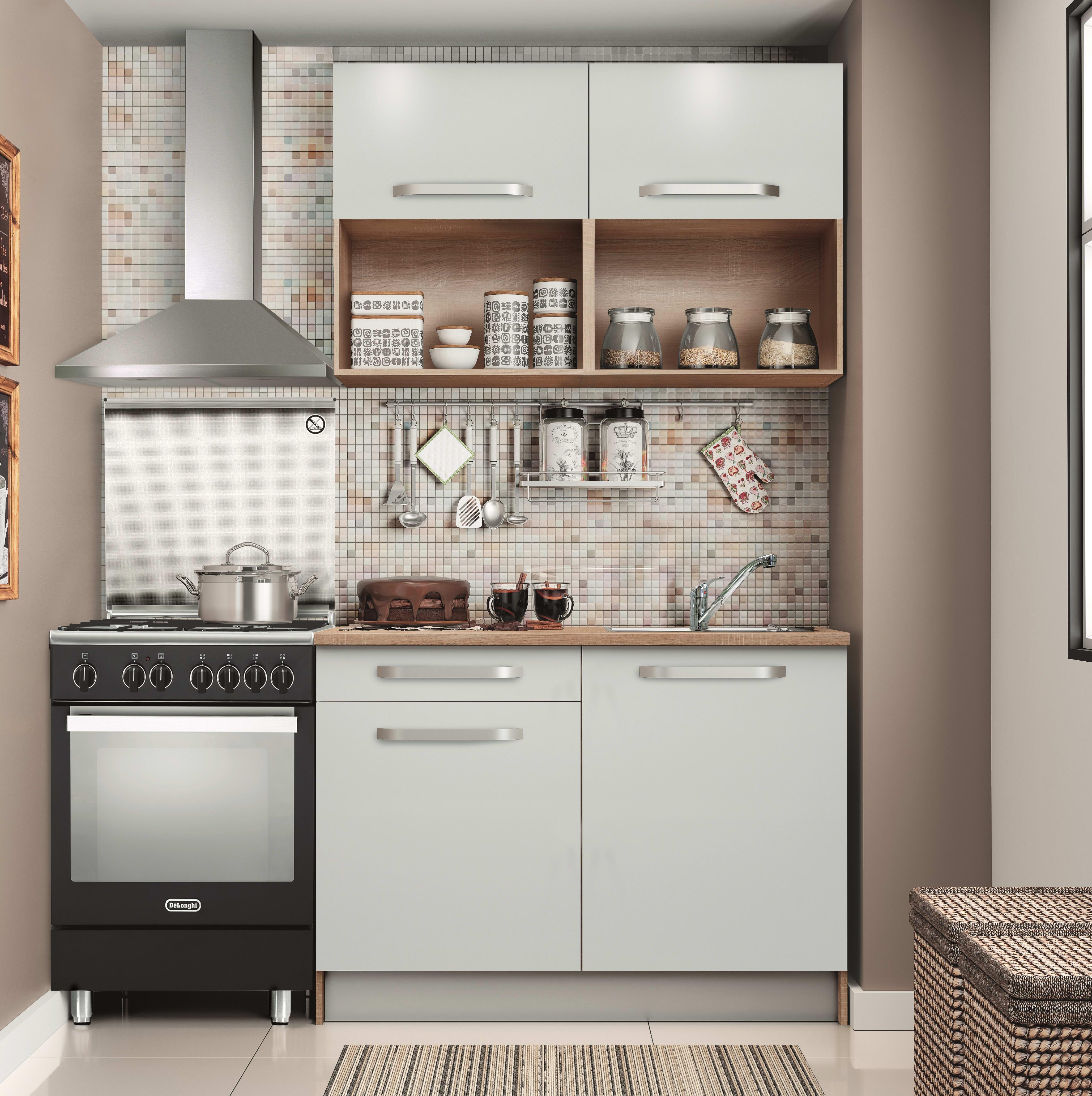 Cucina One Bianco L 120 Cm Prezzi E Offerte Online Leroy Merlin