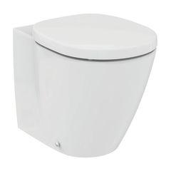 bagno vaso a pavimento filo muro ideal soft scarico traslato con sedile 36136485