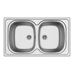 cucina lavello incasso aurora l 86 x p 50 cm 2 vasche 34242684