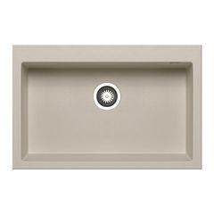 Lavello incasso Voyager beige L 41 x P 50 cm 1 vasca: prezzi e ...