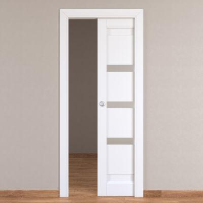 Porta da interno scorrevole Stripe bianco 80 x H 210 cm reversibile ...