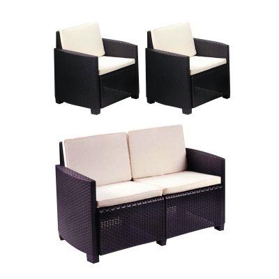 Poltrona Doppia o divano a 2 posti Lipari antracite: prezzi e ...