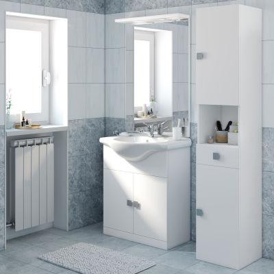 Mobile bagno Super bianco L 75 cm: prezzi e offerte online