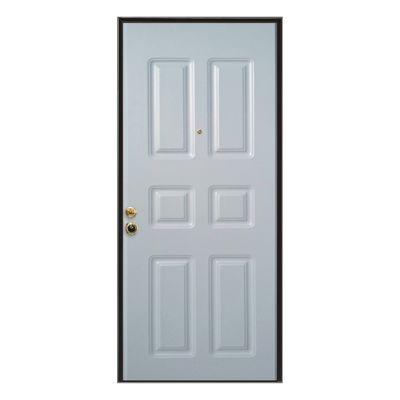 Porta blindata steel bianco l 80 x h 210 cm sx prezzi e - Porta finestra blindata ...
