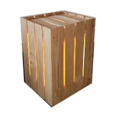Cubo dogato legno L 30 x P 30 x H 45 cm grezzo: prezzi e offerte online