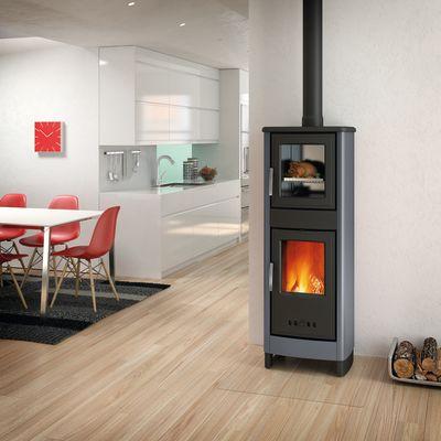 Stufa a legna con forno Malika grigio: prezzi e offerte online