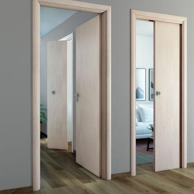 Porta da interno scorrevole Notting Hill pino sbiancato 80 x H 210 ...