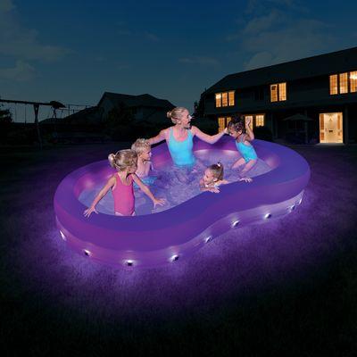 Piscina per bambini Family con luci e led 280 x 157 cm: prezzi e ...
