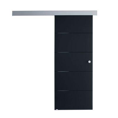 Porta da interno scorrevole Pegaso nero 96 x H 215 cm reversibile ...