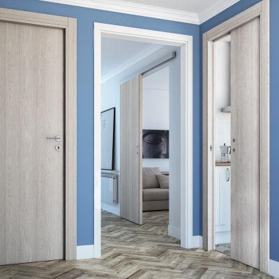 Porta da interno scorrevole One ash wood frassino 90 x H 210 cm ...