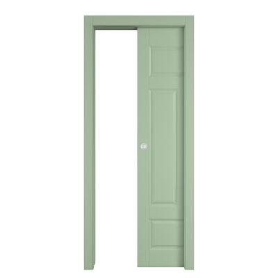 Porta da interno scorrevole coconut groove verde 60 x h - Porta scorrevole da interno ...