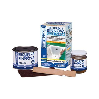 Kit di riparazione Recupera e Rinnova sanitari Saratoga Bianco ...