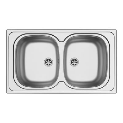 Lavello incasso Aurora L 86 x P 50 cm 2 vasche: prezzi e offerte online