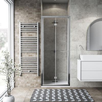 Porta doccia Record 77-81, H 195 cm vetro temperato 6 mm trasparente ...