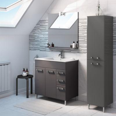 Mobile bagno Opale grigio antracite L 80 cm: prezzi e offerte online