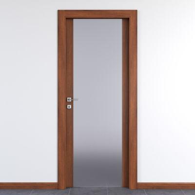 Porta da interno battente Alnitak noce nazionale 80 x H 210 cm dx ...