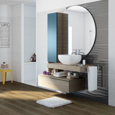 mobile bagno eklettica olmo avio l 135 cm: prezzi e offerte online - Arredo Bagno Leroy Merlin