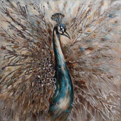 dipinto su tela Pavone 100x100: prezzi e offerte online
