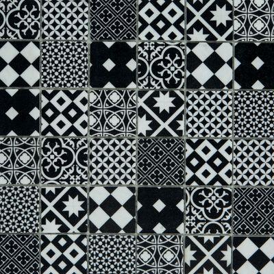 Mosaico Cementina 30 x 30 cm bianco, nero: prezzi e offerte online