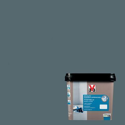 Vernici Smalto Piastrelle V33 Grigio Carbonato Satinato 0,75 L 35194320