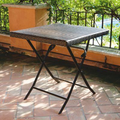 Tavolo pieghevole 60 x 60 cm antracite prezzi e offerte online - Tavolo profondita 60 cm ...