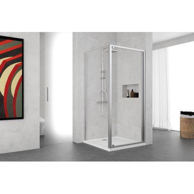 Porta doccia battente Oceania 66-72, H 195 cm vetro temperato 5 mm ...