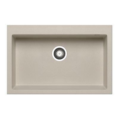 Lavello incasso Voyager beige L 76 x P 50 cm 1 vasca: prezzi e ...