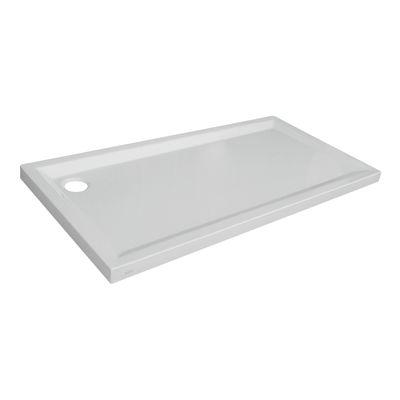 Piatto doccia acrilico sensea houston 80 x 100 cm bianco for Piatto doccia leroy merlin
