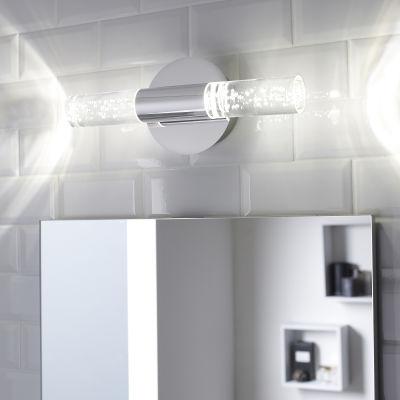 Luce da specchio Bula cromo 33 cm 5 W 700 Lumen led integrato IP44 ...