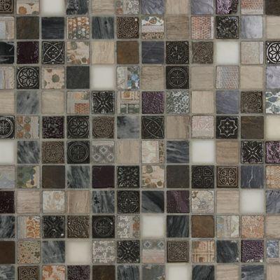 Mosaico Greyin 30 x 30 cm bianco, grigio, marrone, beige: prezzi e ...