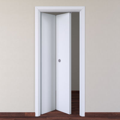 Porta da interno pieghevole Pearl bianco 80 x H 210 cm sx: prezzi e ...