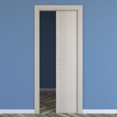 Porta da interno scorrevole One ash wood frassino 60 x H 210 cm ...