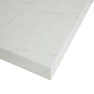 Piano cucina su misura laminato Marmo Onice bianco 4 cm: prezzi e ...