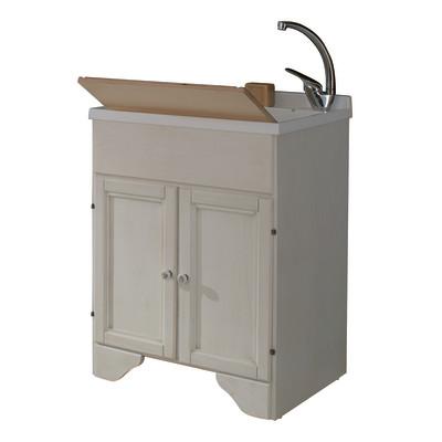 Mobile lavatoio bianco l 60 x p 50 x h 84 cm prezzi e - Lavatoio leroy merlin ...