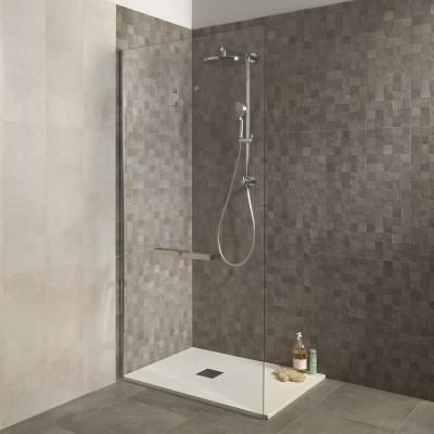 Piastrella vision 45 x 45 grigio talpa prezzi e offerte - Pareti doccia in resina ...