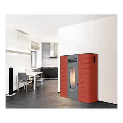 termostufa a pellet krone slim idro16 b 15 kw bordeaux