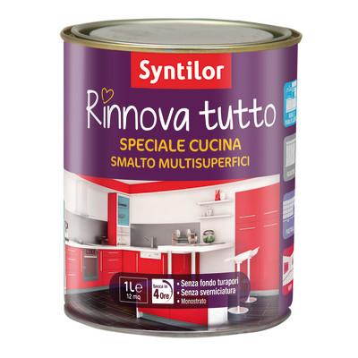 Smalto multi superfici syntilor grigio opaco 1 l prezzi e offerte online - Syntilor rinnova tutto bagno ...