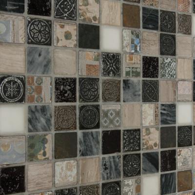 Mosaico greyin 30 x 30 bianco grigio marrone beige prezzi e offerte online - Leroy merlin piastrelle mosaico ...