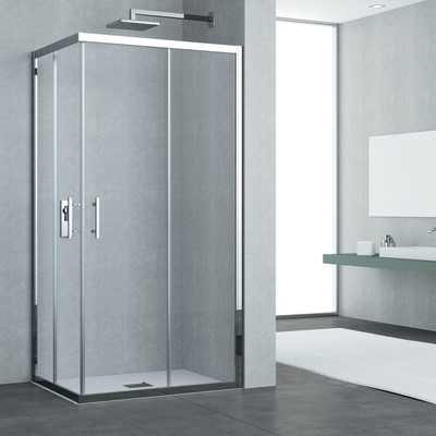 Box doccia elyt 2 ante fisse 2 scorrevoli trasparente - Leroy merlin bagno box doccia ...